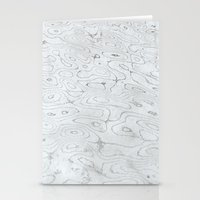 rippled liquid marble Stationery Cards