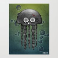 Jelly Swamp Print by NREAZON Canvas Print