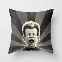 Noise Black Throw Pillow