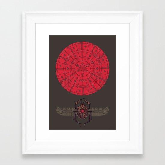 Sacred Sun Framed Art Print
