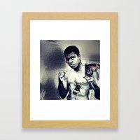 Ali- Float like a Butterfly sting like a bee Framed Art Print