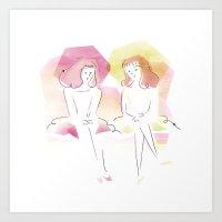 Les Demoiselles de Rochefort Art Print