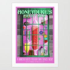 Visit Honeyduke's Sweet Shop Art Print