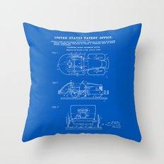 Automobile Amusement Ride - Blueprint Throw Pillow