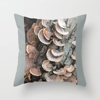 Throw Pillow featuring Fungi III by Rogue Crafter
