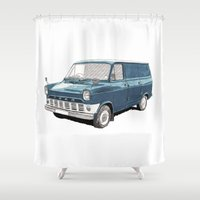 Ford Transit Mark 1 Shower Curtain