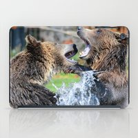 Sparring Grizzly Bears iPad Case
