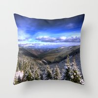 Winter Vision Throw Pillow