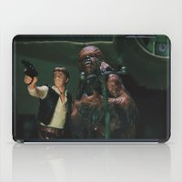 Hokey religions and ancient weapons are no match for a good blaster at your side iPad Case