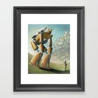 Robot Dilemma Framed Art Print