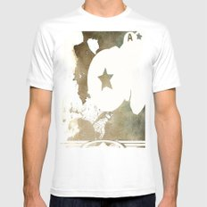 Superheroes Minimalist -… Mens Fitted Tee White SMALL
