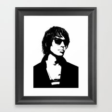 Julian Casablancas The Strokes Black And White Framed Art Print