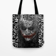 Halloween Psycopath Clown Typograph apple iPhone 4 4s 5 5s 5c, ipod, ipad, pillow case and tshirt Tote Bag