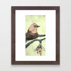 Bird Etching Framed Art Print