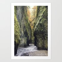 Fall in Oneota Gorge, OR Art Print