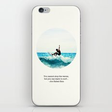Surf Quote iPhone & iPod Skin