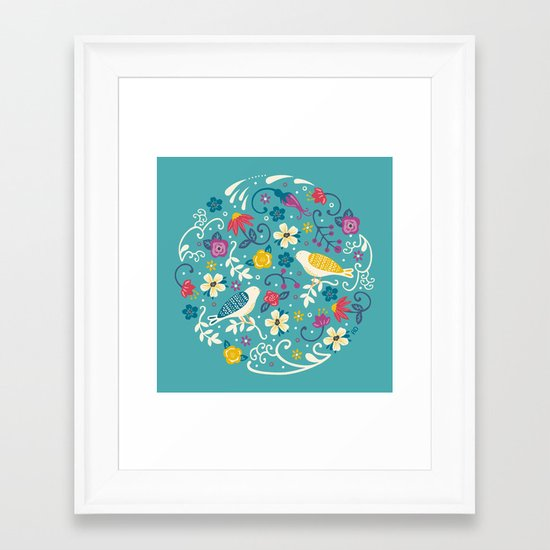 Garden Birds Framed Art Print