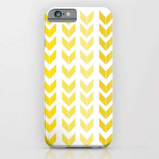 chevron yellow iPhone & iPod Case