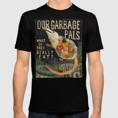 GARBAGE PALS Mens Fitted Tee Black SMALL