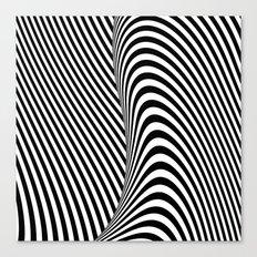Black and White Pop Art Canvas Print