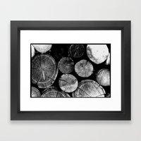 Wood Love Framed Art Print