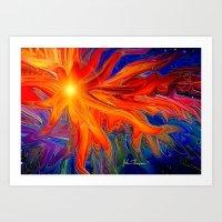 Firey Light Art Print