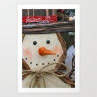 Snowman Fellow Art Print