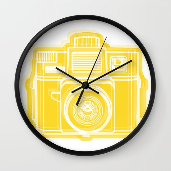 I Still Shoot Film Holga Logo - Sunshine Yellow Wall Clock