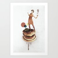 These Burgers Are Crazy   Collage Art Print