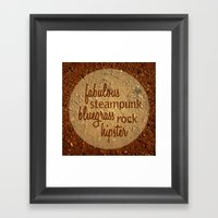 Tara's music motto Framed Art Print