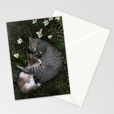 Sleep [A CAT AND A KITTEN] Stationery Cards