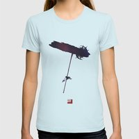Mass Effect 2 (w/quote) Womens Fitted Tee Light Blue SMALL
