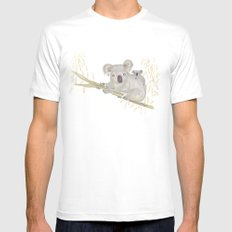Koala & baby Mens Fitted Tee White SMALL