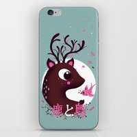 la biche et l'oiseau iPhone & iPod Skin
