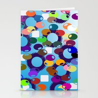 Funny carnival dots Stationery Cards