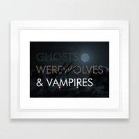Ghosts, Werewolves & Vampires Framed Art Print