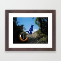 Where The Moon Goes To S… Framed Art Print