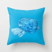 Water Hog Throw Pillow