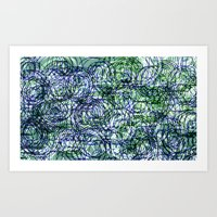 Generative Expressionist Sketch Series 1065 #5 Art Print