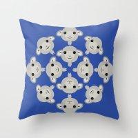 Sheep Circle - 3 Throw Pillow
