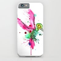 iPhone & iPod Case featuring Hummingbird Skeleton Watercolor/Pen&Ink by Ludwig Van Bacon