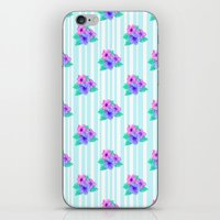 Hibiscus and Stripes iPhone & iPod Skin