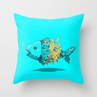 Fish & Chips Throw Pillow
