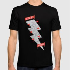 slalom Black Mens Fitted Tee SMALL