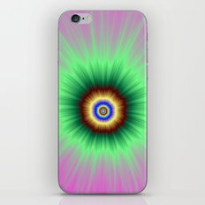 Explosion of Color in Pink and Green iPhone & iPod Skin