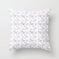 Space Kid Pattern Throw Pillow