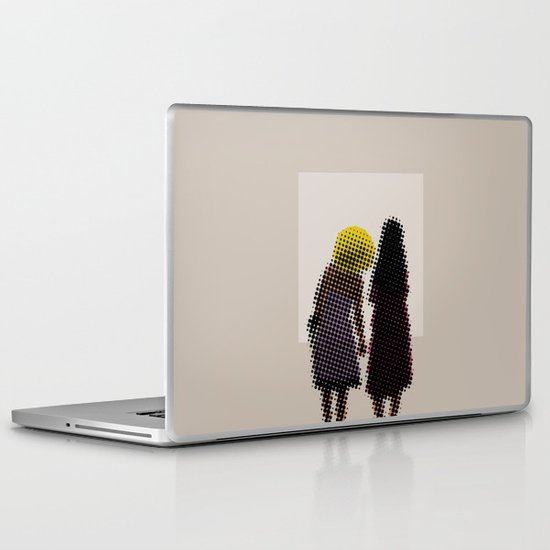 She tried, but all she could see was the missing picture Laptop & iPad Skin