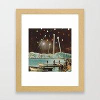 alaska's busiest seaplane base... (Lake Hood) Framed Art Print