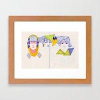 Heads, Hairs and Eyes Framed Art Print