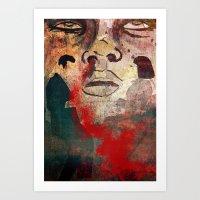 Uncomfortable Silence Art Print